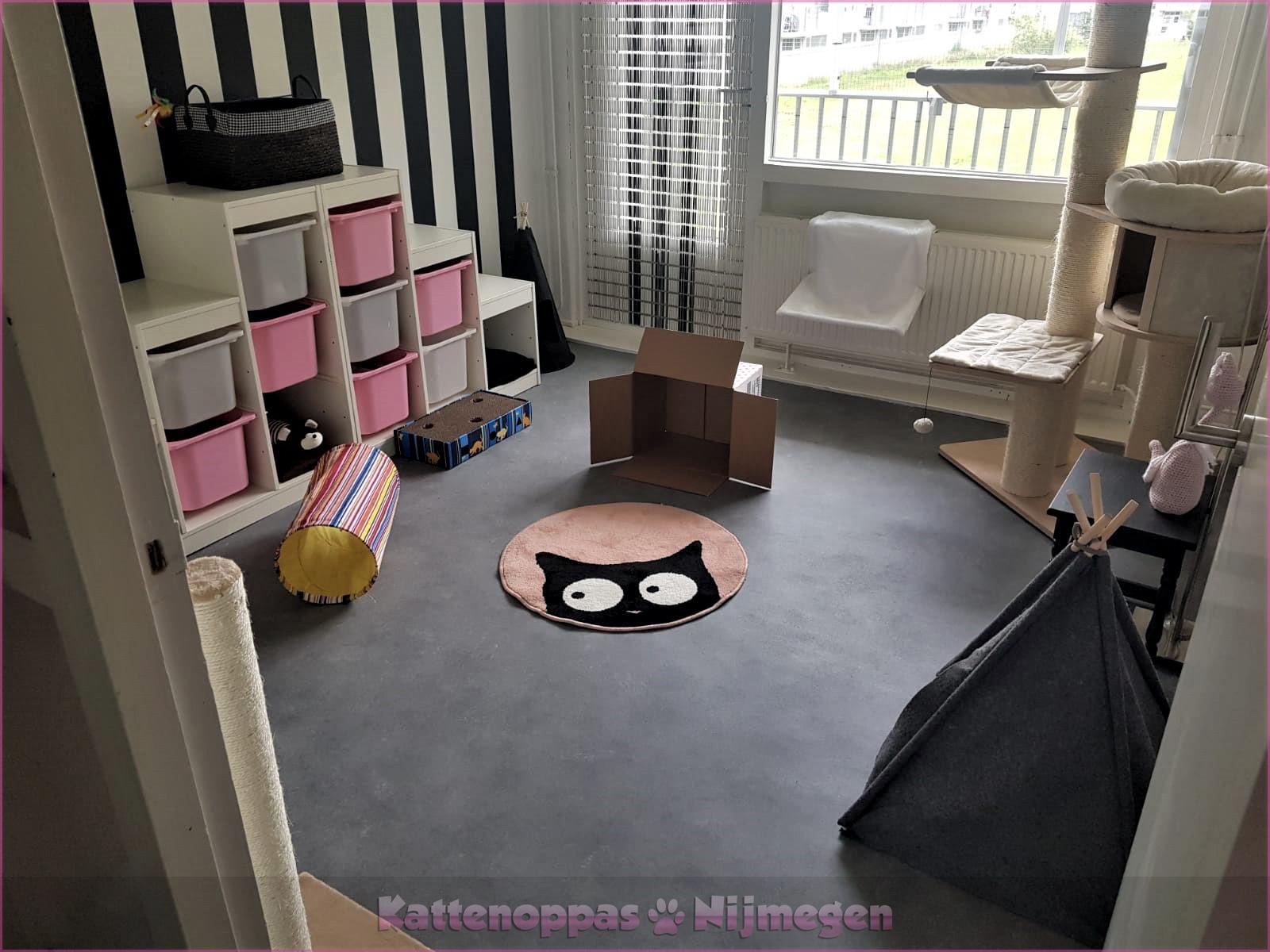 Kamer3: luxe kattenkamer met een volledig afgezet balkon!